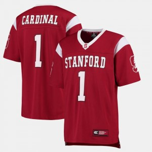 Stanford Cardinal Jersey College Football #1 Cardinal For Men