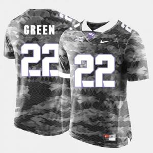 TCU Horned Frogs Aaron Green Jersey Grey Mens College Football #22