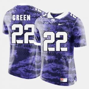 TCU Horned Frogs Aaron Green Jersey College Football Purple Men #22