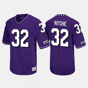 TCU Horned Frogs Brandon Ritchie Jersey Throwback #32 Purple For Men's