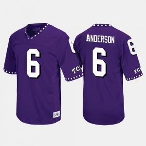 TCU Horned Frogs Darius Anderson Jersey #6 Purple Throwback Men