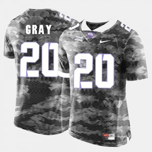 TCU Horned Frogs Deante Gray Jersey #20 College Football Mens Grey