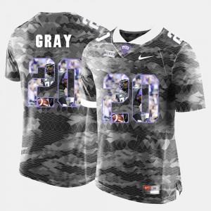 TCU Horned Frogs Deante Gray Jersey High-School Pride Pictorial Limited Grey Men's #20