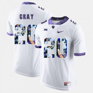 TCU Horned Frogs Deante Gray Jersey Men White High-School Pride Pictorial Limited #20