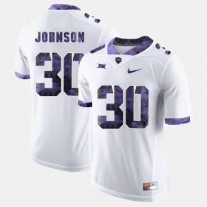 TCU Horned Frogs Denzel Johnson Jersey Men's College Football White #30