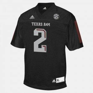 Texas A&M Aggies Johnny Manziel Jersey #2 For Men Black College Football