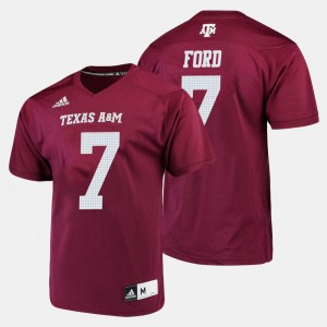 Texas A&M Aggies Keith Ford Jersey Maroon #7 Men College Football