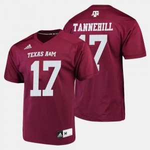 Texas A&M Aggies Ryan Tannehill Jersey Maroon College Football #17 For Men