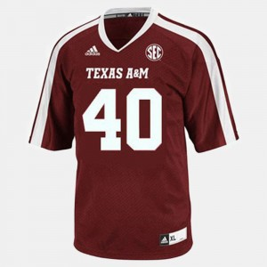 Texas A&M Aggies Von Miller Jersey College Football Red #40 For Kids
