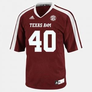 Texas A&M Aggies Von Miller Jersey Men's College Football #40 Red