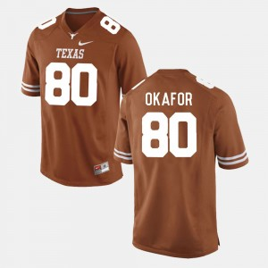 Texas Longhorns Alex Okafor Jersey College Football Men's Burnt Orange #80