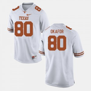 Texas Longhorns Alex Okafor Jersey White College Football Men #80
