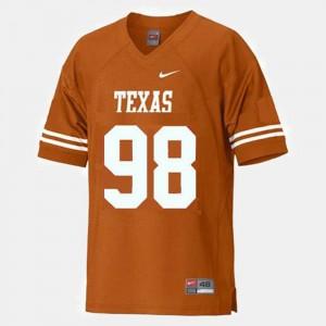 Texas Longhorns Brian Orakpo Jersey Orange College Football #98 For Kids
