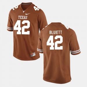 Texas Longhorns Caleb Bluiett Jersey Burnt Orange For Men's College Football #42