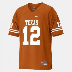 Texas Longhorns Colt McCoy Jersey Men's #12 College Football Orange