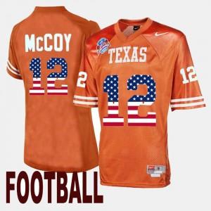 Texas Longhorns Colt McCoy Jersey #12 Throwback Men's Orange