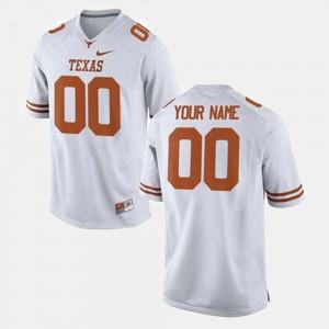 Texas Longhorns Custom Jersey #00 White College Football For Men