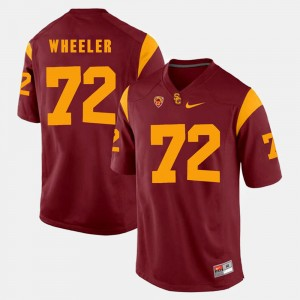 USC Trojans Chad Wheeler Jersey #72 Pac-12 Game Red For Men's