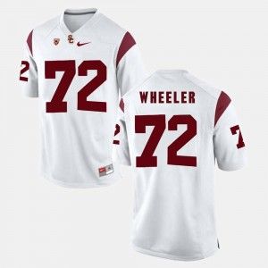 USC Trojans Chad Wheeler Jersey #72 Pac-12 Game White For Men