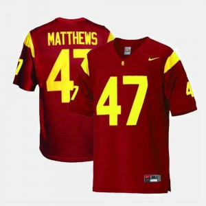 USC Trojans Clay Matthews Jersey Men's College Football #47 Red