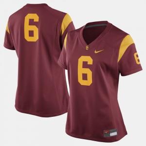 USC Trojans Jersey College Football Cardinal Women's #6