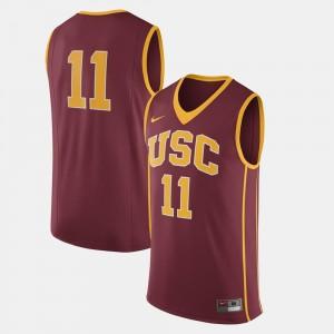 USC Trojans Jersey College Football Men Cardinal #11