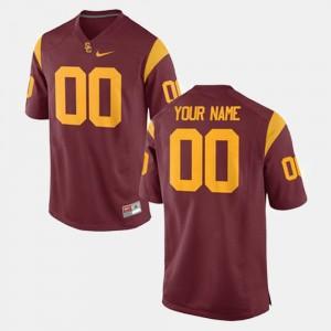 USC Trojans Custom Jerseys Cardinal #00 College Football For Men