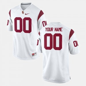 USC Trojans Customized Jersey #00 College Football White For Men