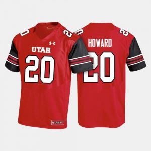 Utah Utes Jordan Howard Jersey For Men #20 College Football Red