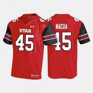 Utah Utes Samson Nacua Jersey #45 Red College Football For Men's