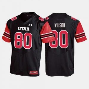 Utah Utes Siaosi Wilson Jersey #80 Black Men College Football