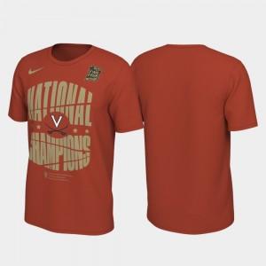 Virginia Cavaliers T-Shirt 2019 Men's Basketball Champions Men 2019 NCAA Basketball National Champions Celebration Shattered Backboard Orange