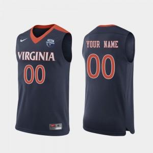 Virginia Cavaliers Customized Jerseys Navy 2019 Men's Basketball Champions #00 For Men