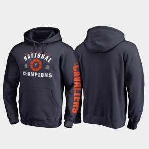 Virginia Cavaliers Hoodie 2019 Men's Basketball Champions Navy For Men 2019 NCAA Basketball National Champions Dribble Pullover