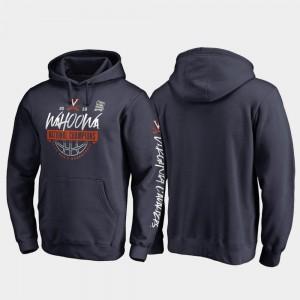 Virginia Cavaliers Hoodie 2019 Men's Basketball Champions For Men's 2019 NCAA Basketball National Champions Fast Break Pullover Navy