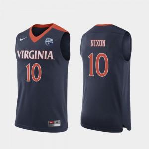 Virginia Cavaliers Jayden Nixon Jersey #10 2019 Men's Basketball Champions Men's Navy