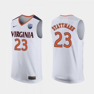 Virginia Cavaliers Kody Stattmann Jersey Mens 2019 Men's Basketball Champions #23 White