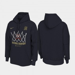 Virginia Cavaliers Hoodie Navy For Men's 2019 Men's Basketball Champions 2019 NCAA Basketball National Champions Locker Room Pullover