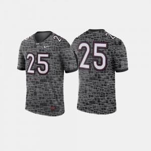 Virginia Tech Hokies Jersey Anthracite College Football #25 Mens