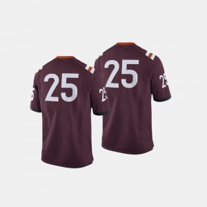Virginia Tech Hokies Jersey College Football Maroon #25 Mens