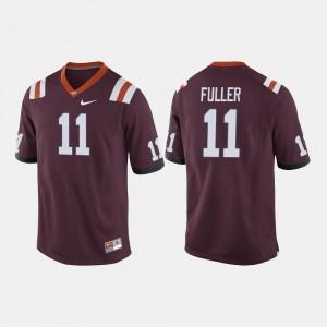 Virginia Tech Hokies Kendall Fuller Jersey Men Maroon #11 College Football