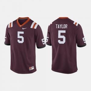 Virginia Tech Hokies Tyrod Taylor Jersey Men's Maroon College Football #5
