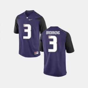 Washington Huskies Jake Browning Jersey College Football Men #3 Purple