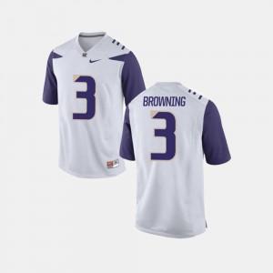 Washington Huskies Jake Browning Jersey White College Football For Men's #3