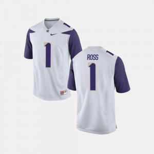 Washington Huskies John Ross III Jersey #1 College Football For Men White
