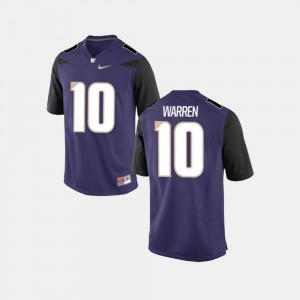 Washington Huskies Jusstis Warren Jersey College Football #10 Purple For Men's