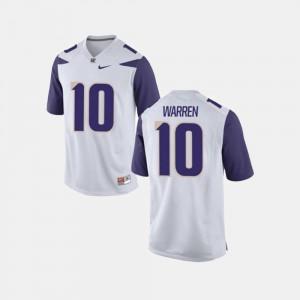 Washington Huskies Jusstis Warren Jersey For Men's College Football White #10