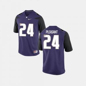 Washington Huskies Kamari Pleasant Jersey Mens College Football Purple #24