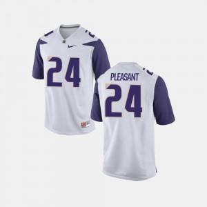 Washington Huskies Kamari Pleasant Jersey College Football Mens White #24