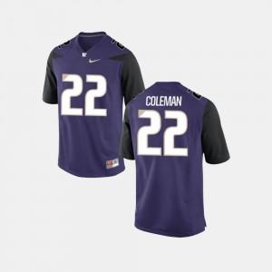 Washington Huskies Lavon Coleman Jersey College Football Purple Men's #22